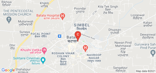 RR Bawa DAV College for Girls, Smadh Road, Guru Teg Bahadur Colony, Batala, Punjab, India
