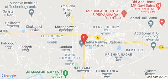 government girls degree college satna, MDR 11, Pushpraj Colony, Railway Colony, Satna, Madhya Pradesh, India