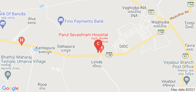 Parul Institute of Engineering & Technology, Waghodia, Vadodara, Gujarat, India