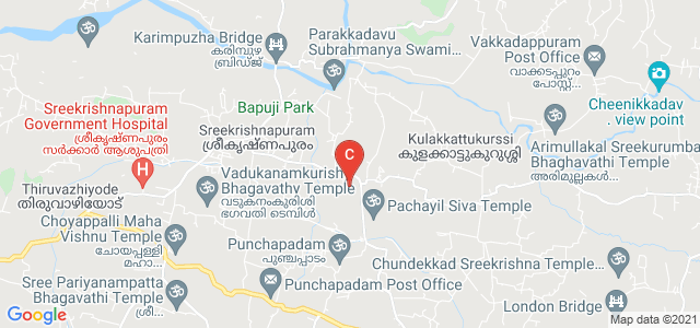 Government Engineering College Road, Mannampatta, Sreekrishnapuram, Kerala, India