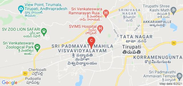 Sri Venkateswara University College of Engineering, Gandhi Road, Sri Padmavati Mahila Visvavidyalayam, Tirupati, Andhra Pradesh, India