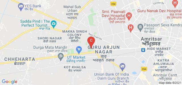 Khalsa College, Grand Trunk Road, Putligarh, Amritsar, Punjab, India