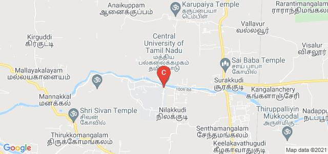 Central University of Tamil Nadu, CUTN Bridge, Neelakudy, Thiruvarur, Tamil Nadu, India