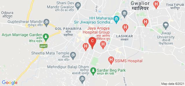 Kamla Raja Girls Government Post Graduate College, Cirar Colony, Jawahar Colony, Kampoo, Gwalior, Madhya Pradesh, India