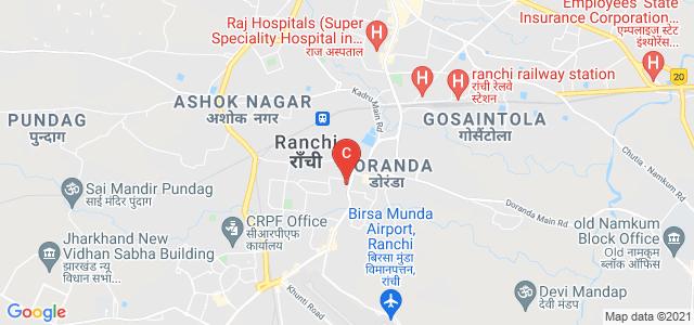 Doranda College, Ranchi, Hinoo Main Road, Opp. Shree Krishna Park, Shyamali Colony, Doranda, Ranchi, Jharkhand, India