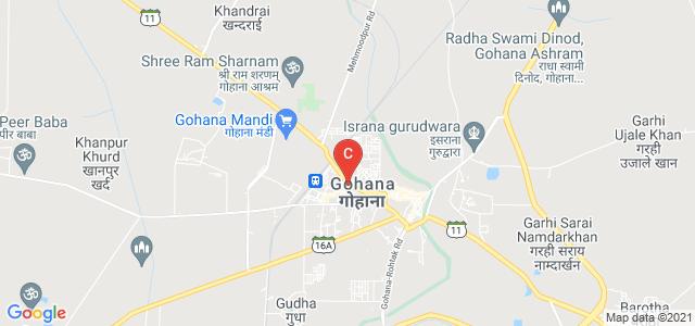 Govt. Girls College, State Highway 11, Gohana, Haryana, India
