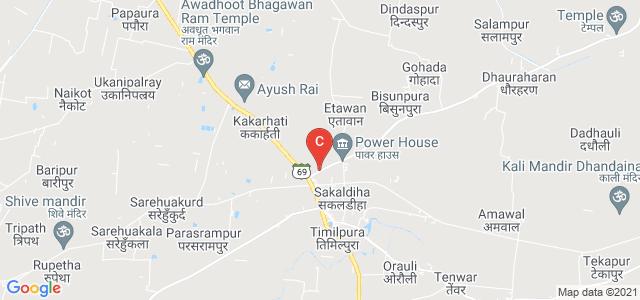 Dhanapur - Sakaldiha Road, Sakaldiha timuhani, Sakaldiha, Chandauli, Uttar Pradesh, India