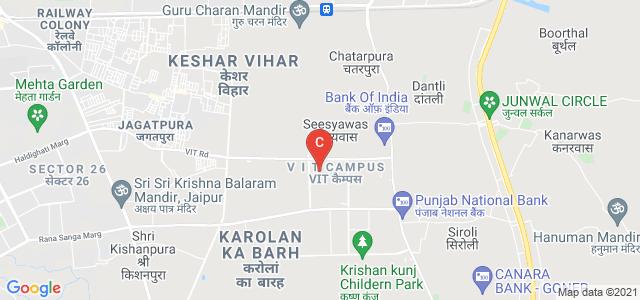 CODE Center for design excellence (School of architecture & design) VGU, Jaipur, V I T Campus, Karolan Ka Barh, Jaipur, Rajasthan, India