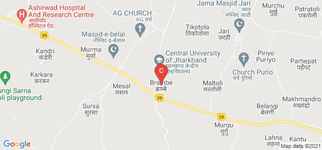 Central University of Jharkhand, Brambe, Ranchi, Jharkhand, India