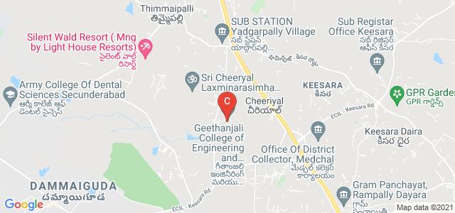 Geethanjali College of Engineering and Technology, Cheryaal, Hyderabad, Telangana, India