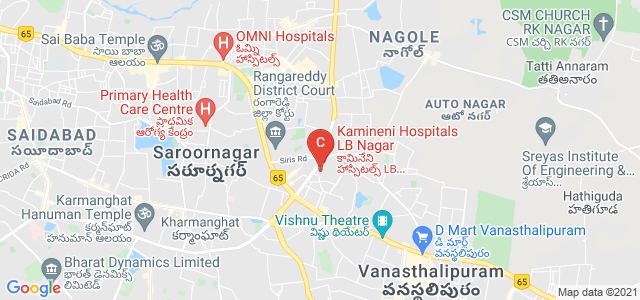 Kamineni Academy of Medical Sciences and Research Centre, Sarvodaya Colony, Central Bank Colony, LB Nagar, Hyderabad, Telangana, India