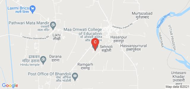 Maa Omwati College of Education, Hodal Hasanpur Road, Hasanpur, Palwal, Haryana, India