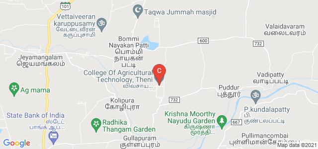 College Of Agricultural Technology, Theni, Theni, Tamil Nadu, India