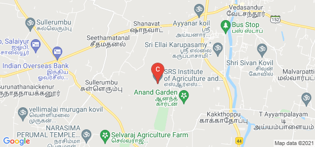 SRS Institute of Agriculture and Technology, Vedasandur, Dindigul, Tamil Nadu, India