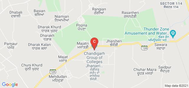 Chandigarh Group of Colleges Jhanjeri Mohali, Sahibzada Ajit Singh Nagar, Punjab, India