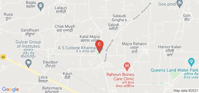A S College Khanna, Machhiwara - Rahon Hwy, Punjab, India