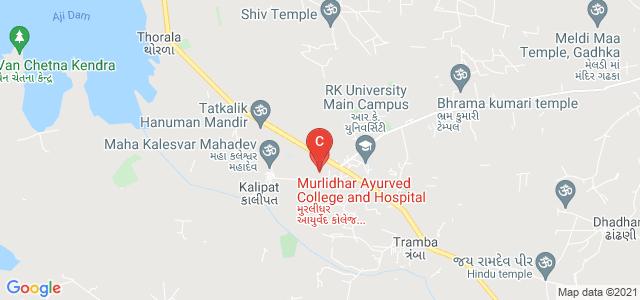 Murlidhar Ayurved College and Hospital, Kalipat Road, Rajkot, Gujarat, India