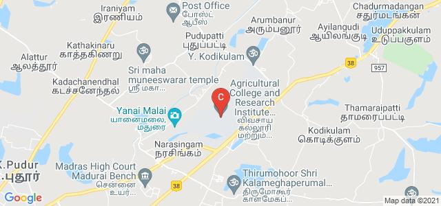 Agricultural College and Research Institute Madurai, Madurai, Tamil Nadu, India