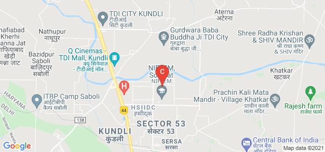 NIFTEM, Industrial Estate, Kundli, Sonepat, Haryana, India