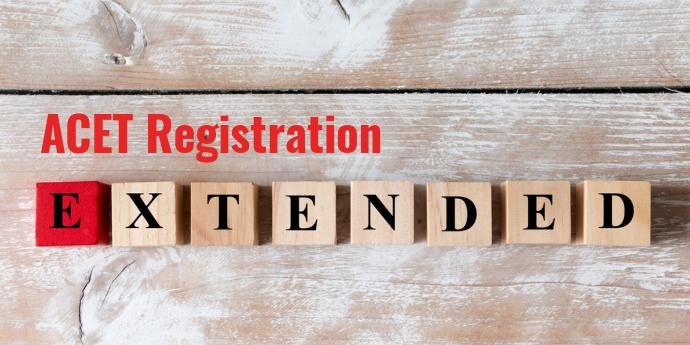 ACET 2021 registration for June session extended till June 5; Apply now
