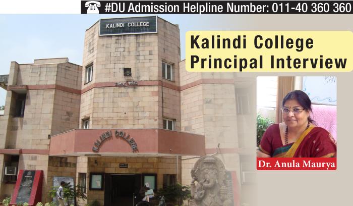FYUP a boon for girl students: Dr. Anula Maurya, Principal, Kalindi College