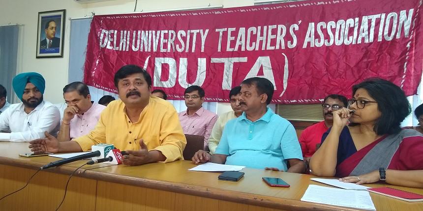 Delhi University teachers demand ordinance to regularise 4,500 ad-hoc teachers