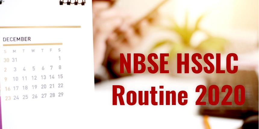 NBSE HSSLC Routine 2020