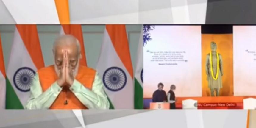 JNU: PM Modi unveils Vivekananda statue, lectures about ideology