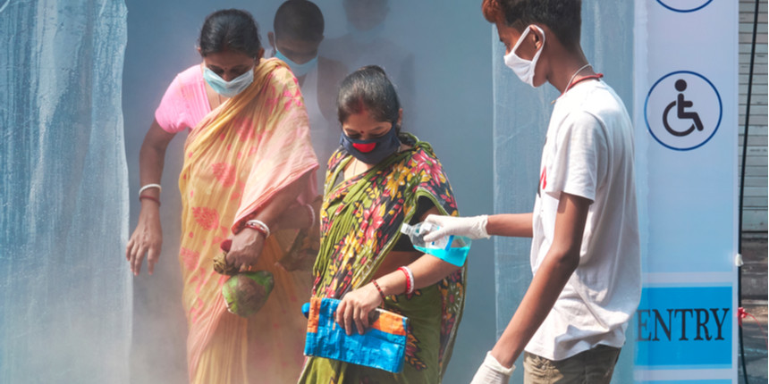 Bengal school students build 'ayurvedic sanitisation tunnel'