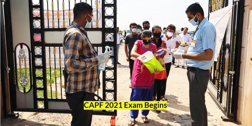 CAPF 2021 exam begins; COVID-19 protocol strictly followed
