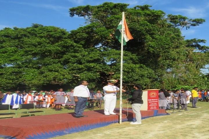 Kendriya vidyalaya No. 2- Flag Hoisting