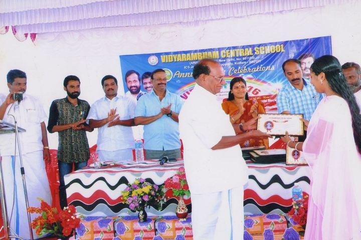 Vidyarambham Central School-Award