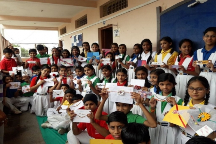 Aaditya Vidya Vihar-Rakhi Making Activity