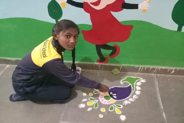Aakar Public School-Rangoli Competition