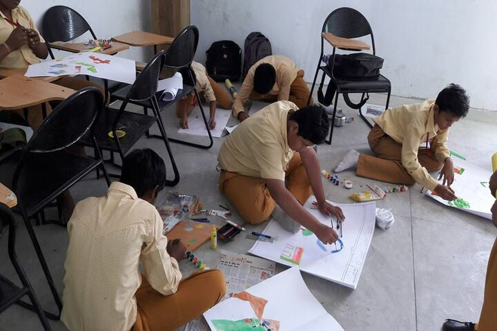 Acharya Shriram Vidyalaya-Drawing Activity