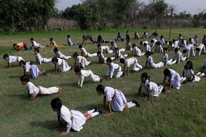 Acharya Shriram Vidyalaya-Yoga Day