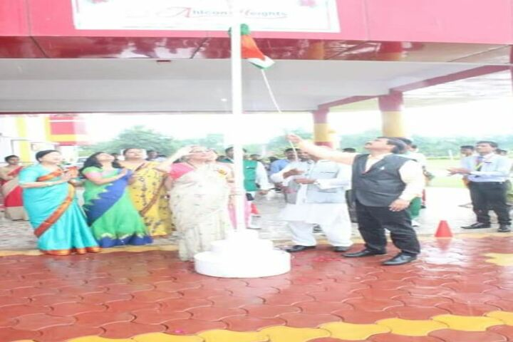 Ahps Sagar Ahlcon Heights Public School-Flag Hoisting