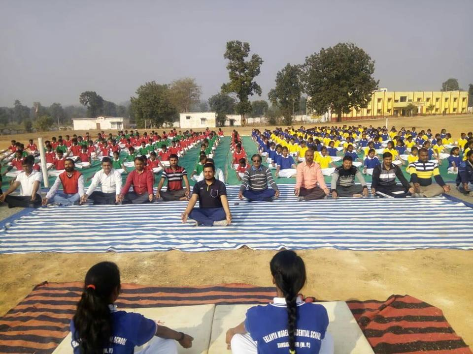 Eklavya Model Residential School-Yoga Day