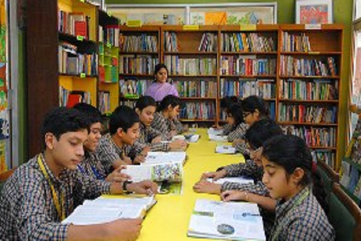 Excellence Valley International School-Library with reading room