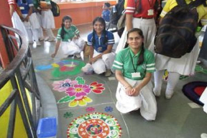 First Step Higher Secondary School-Events rangoli