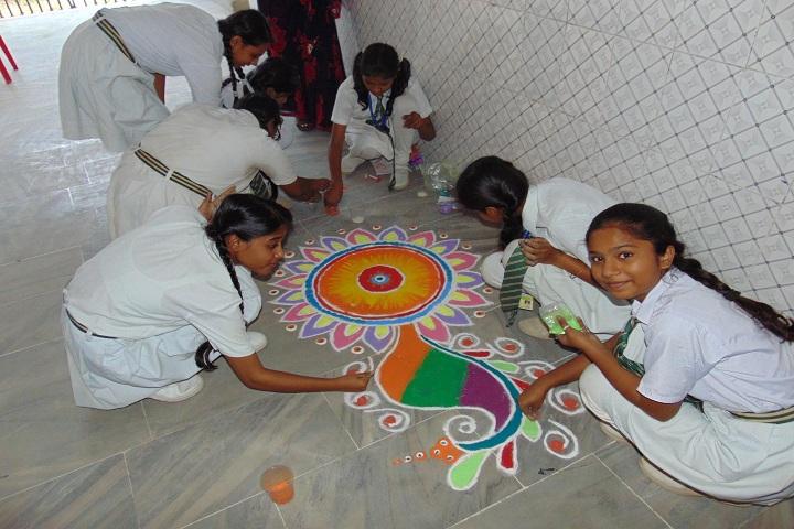 G C M Convent School-Events Rangoli