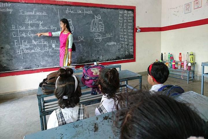 Geeta Public School-Classroom with teacher