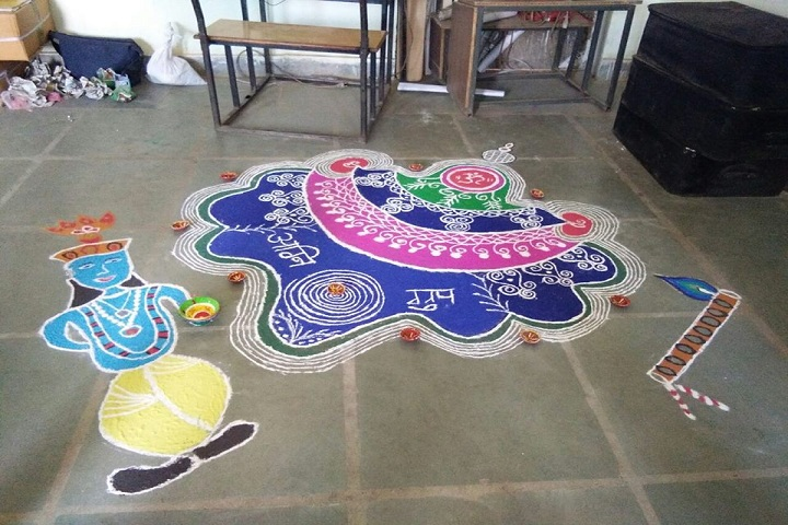 Innovative World School-Rangoli Competition