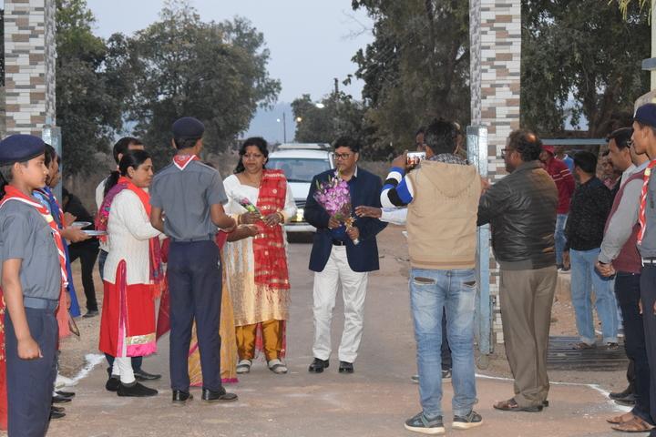 Jawahar Navodaya Vidyalaya-Welcoming the Guest