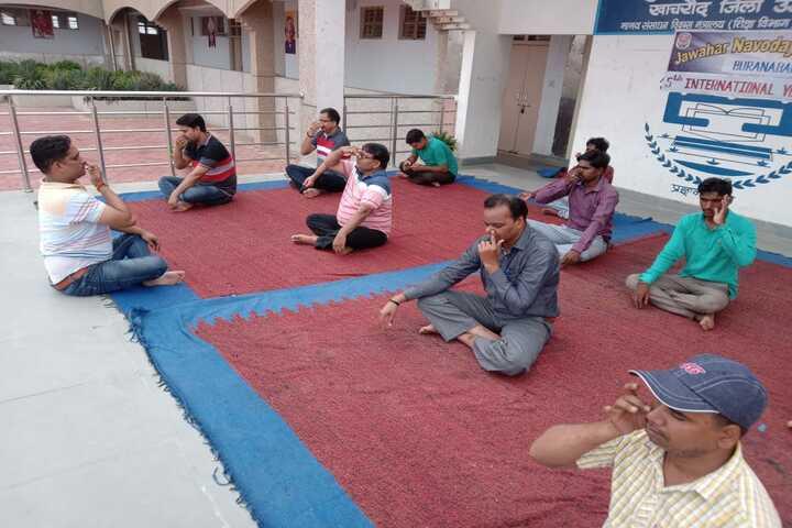 Jawahar Navodaya Vidyalaya-Yoga Day