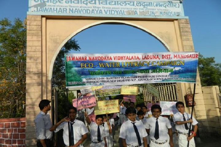 Jawahar Navodaya Vidyalaya-Eco Watter Literacy Campaign