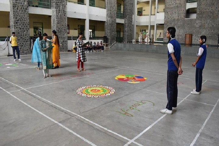 Jay Jyoti School-Rangoli Competition