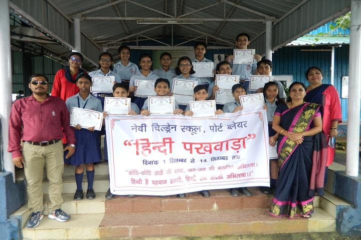 Navy Children School-Events hindi pakhwada