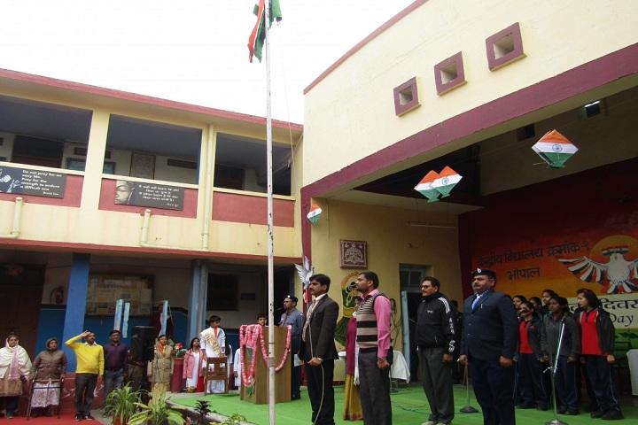 Kendriya Vidyalaya No 1-Flag Hoisting