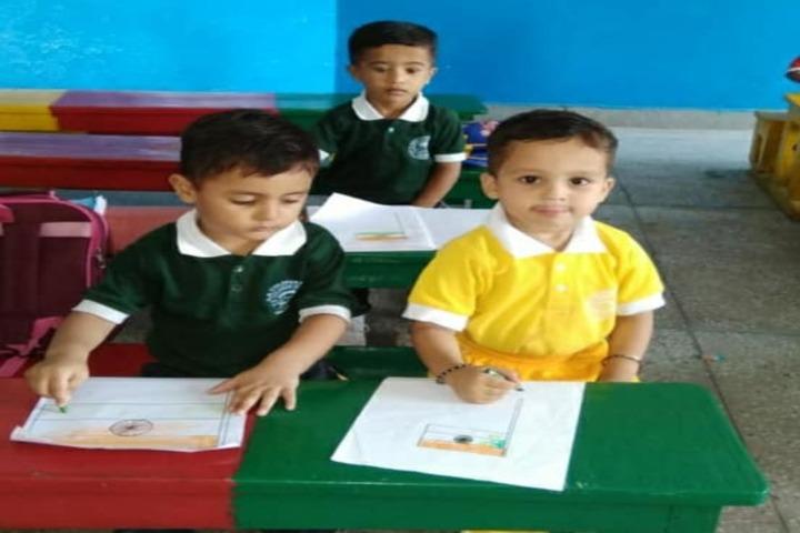 Kg Children School-Drawing Activity